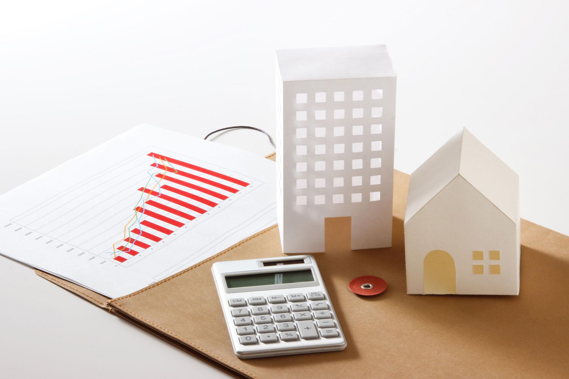 Calculator and condo building