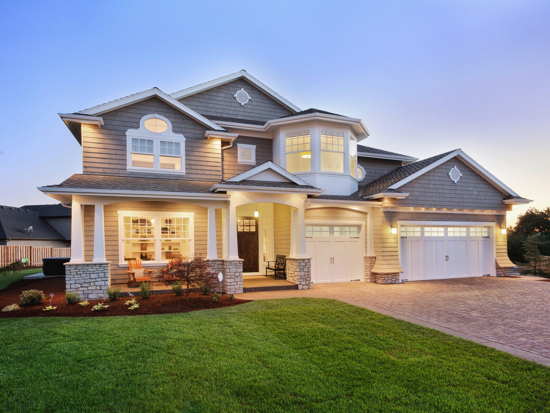 Luxury Home Exterior with Vaughn Real Estate Group