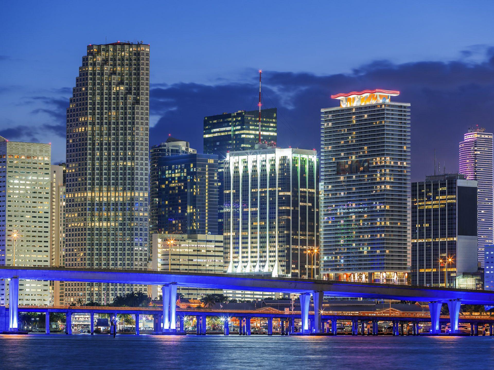 Miami Florida, by night, USA