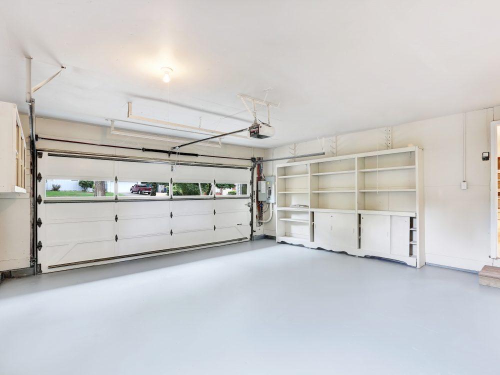 Empty garage interior