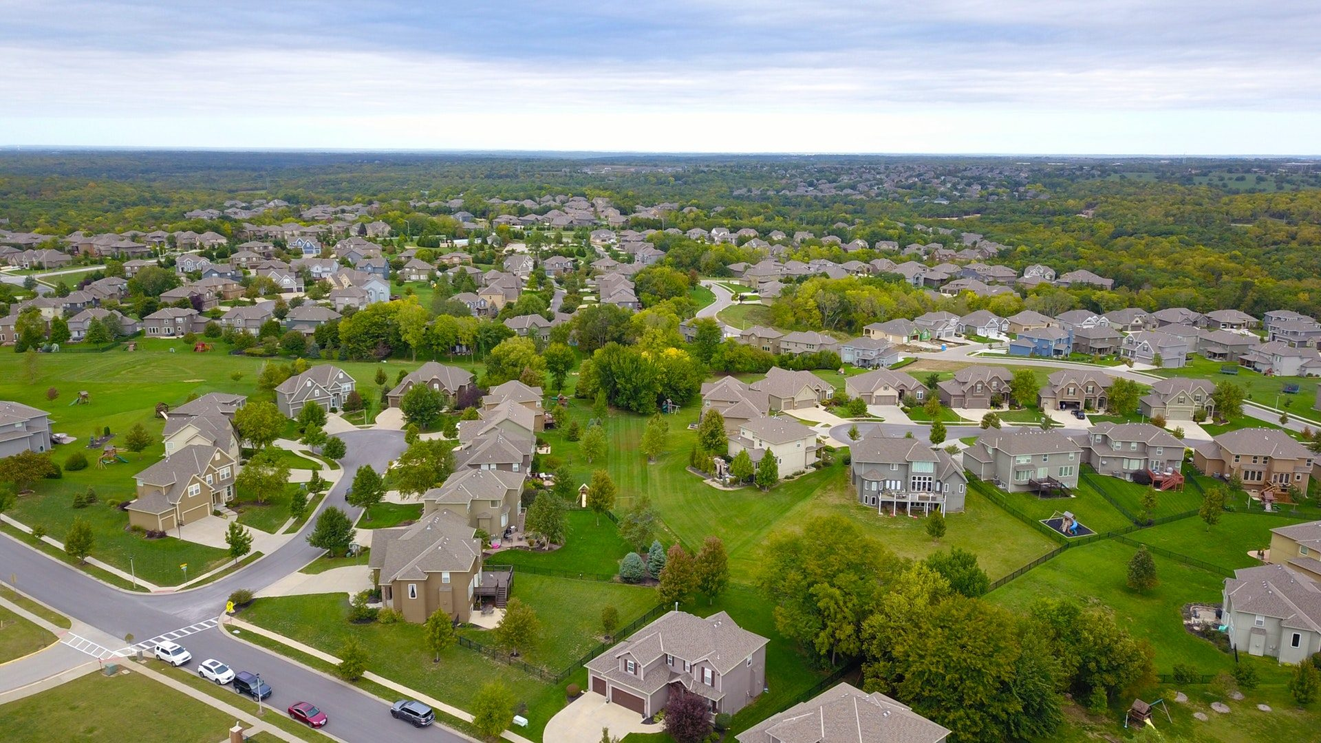 aerial view of south Florida homes