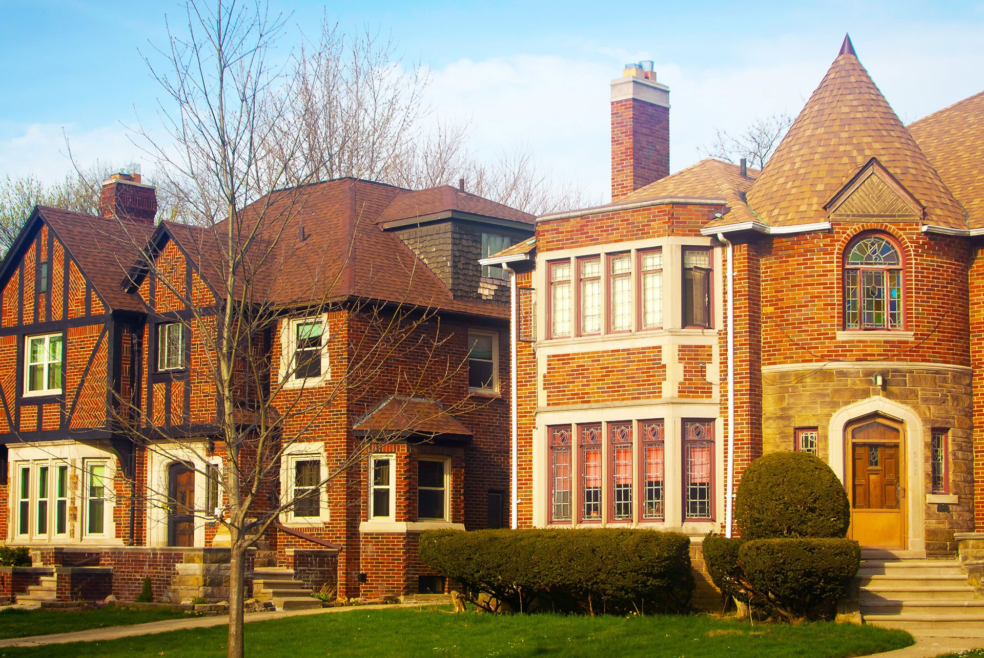 Gross Pointe Michigan Detroit Brownstone Image