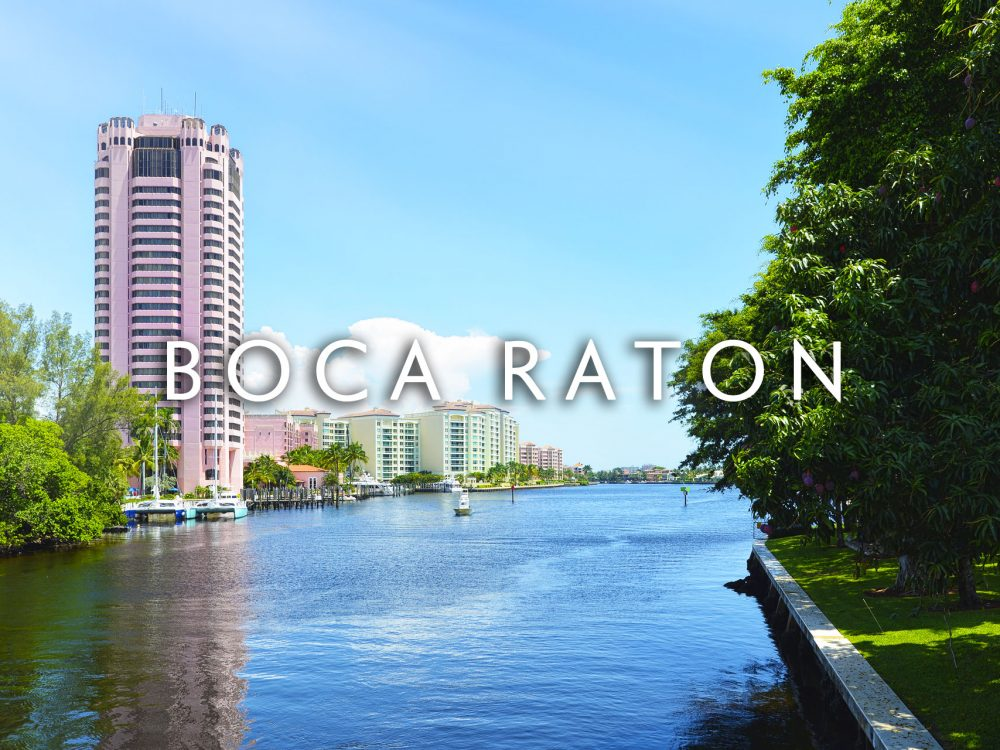 Boca Raton Oceanway with condo building in distance