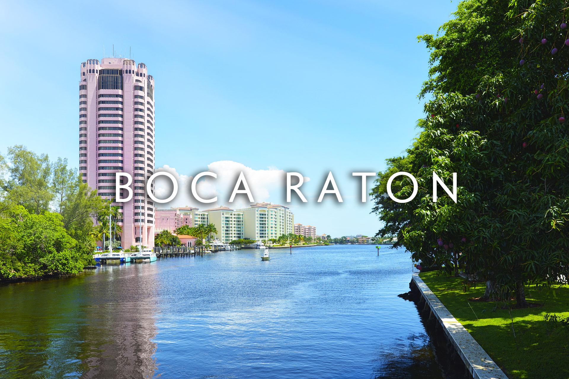 Boca Raton Oceanway with condo building in distance