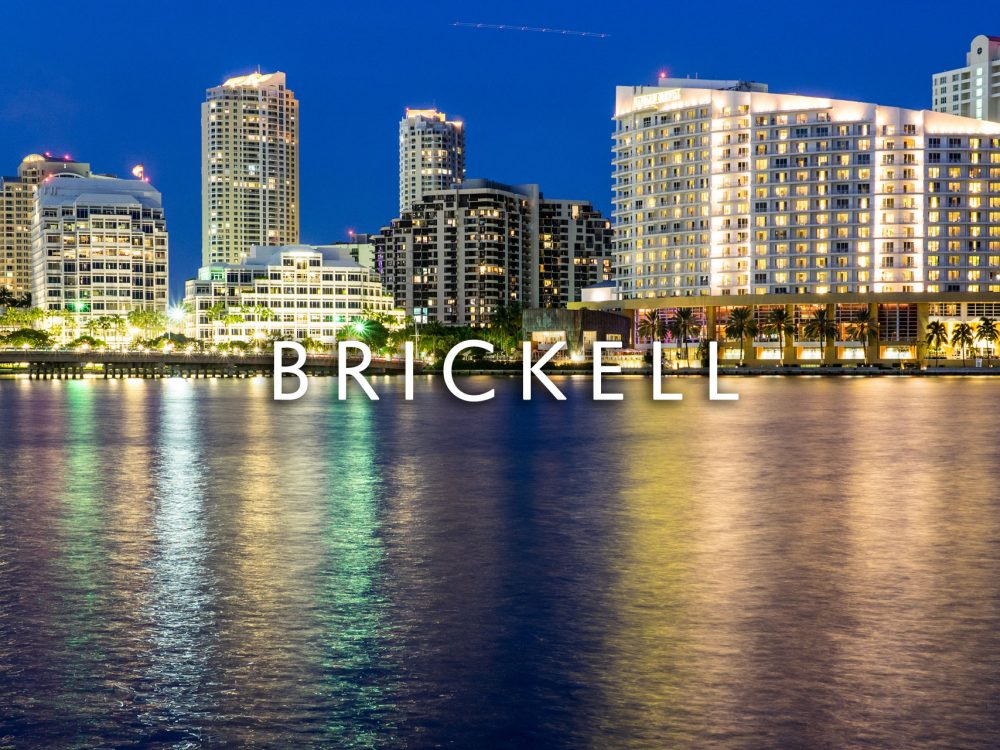 Brickell Condo buildings at sunset
