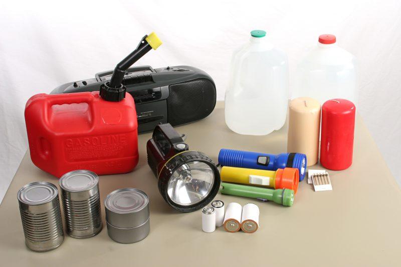 Hurricane supplies for hurricane preparedness