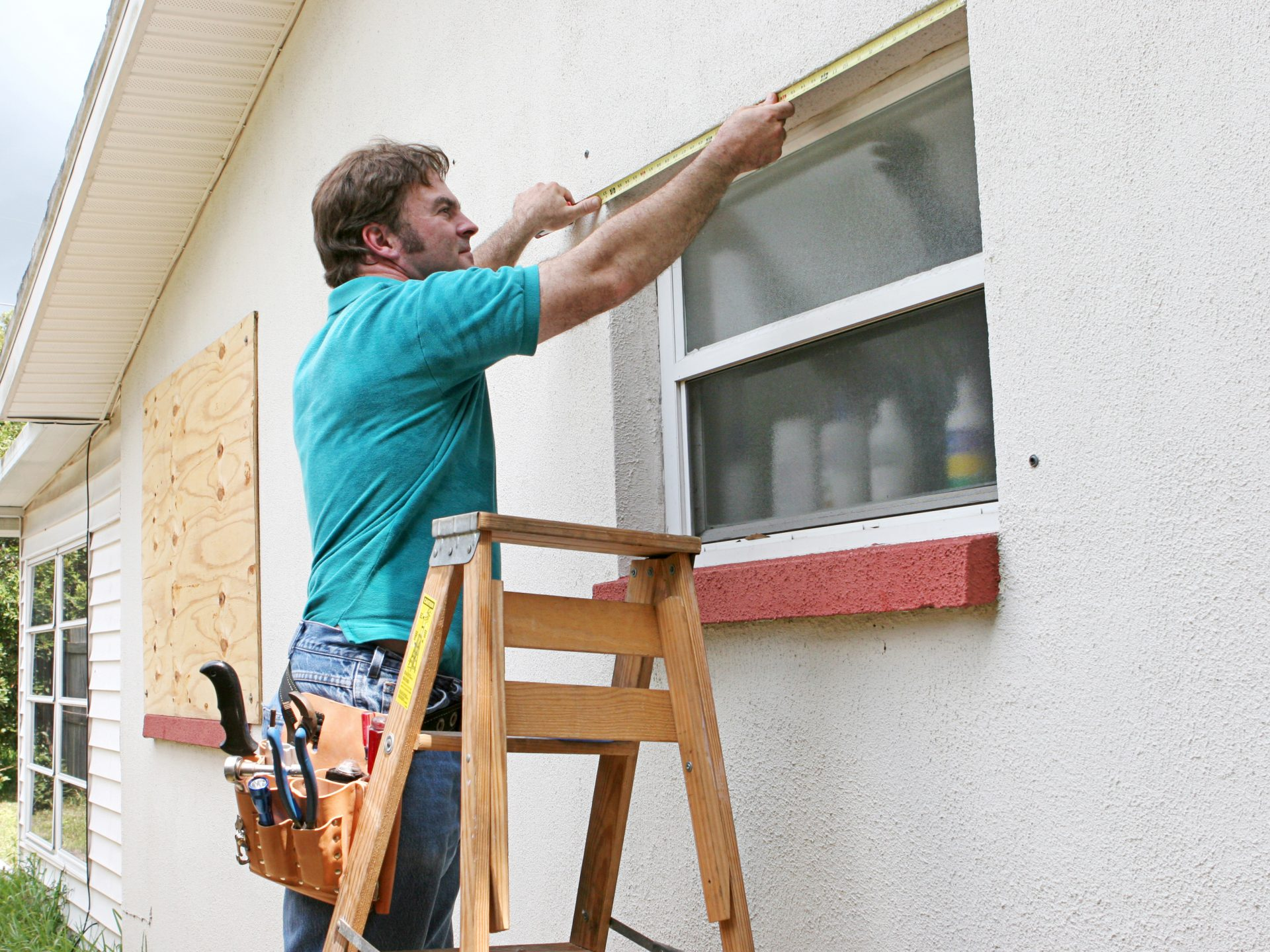 Hurricane preparedness with shutters