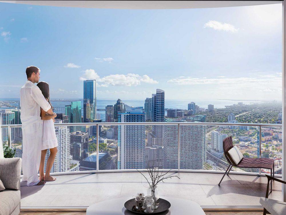 Brickell heights Condo Building Skyline View